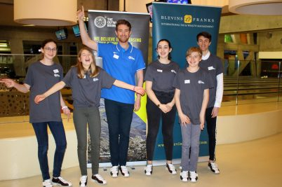 Calvin Watson, Australian medal winner cyclyst, with members of the Loch Eil Bowling team, March 7, 2019 @CelinaLafuentedeLavotha