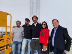 Eduardo Kobra and his team with Luciana de Montigny and Andre de Montigny @Brasil Monaco Project