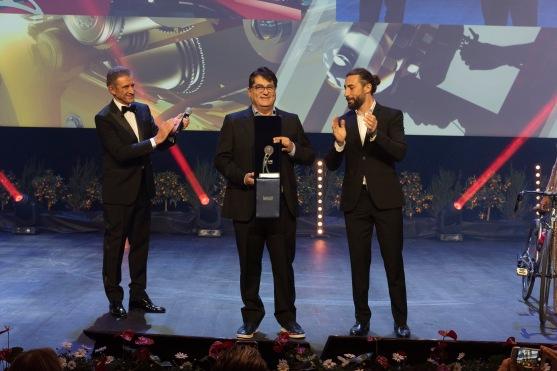 Juan Vera receiving the Best Actor Award on behalf of Ricardo Darin, MCFF 2019@WebsStudio06