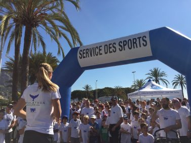 Paula Radcliffe giving the official kick off for Run for the Ocean, March 23, 2019 @TAF