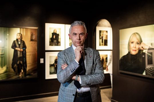 Photographer Amedeo Turello at the Naked Soul photo exhibition at G&M Design gallery, 2019 @Philippe Fitte