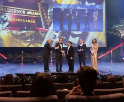 Remo Girone, Benito Urgu, receiving prize for Best Actress and Public Prize on behalf of Rose Byrne in the film Juliet Naked @WebStudio06