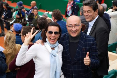 Ambassador of Italy in Monaco Cristiano Gallo and his lovely wife Sabrina celebrating Fognini's victory @CelinaLafuentedeLavotha