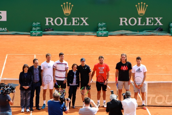 Bettina Ragazzoni, Frederic Platini, Daniil Medvedev, Karen Kachanov Danielle Cottalorda, David Goffin, Stan Wawrinka, Stefanos Tsitsipas, and Dominic Thiem, Saturday, April 13, 2019 @CelinaLafuentedeLavotha