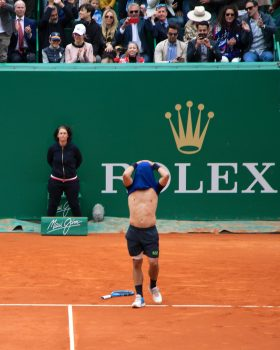 Fabio Fognini after winning the Final at the Rolex Monte-Carlo Masters, April 21, 2019 @CelinaLafuentedeLavotha