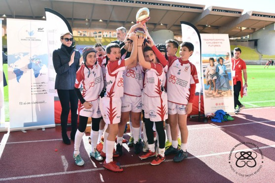 HSH Princess Charlene presented the Saint Devoto Challenge trophy to the Monegasque Team in 2018 @David Niviere