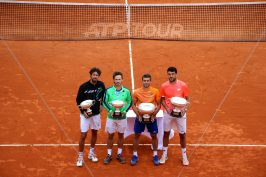 R. Hasse and W. Koolhof, with doubles champions N. Mektic and F. Skugor @CelinaLafuentedeLavotha