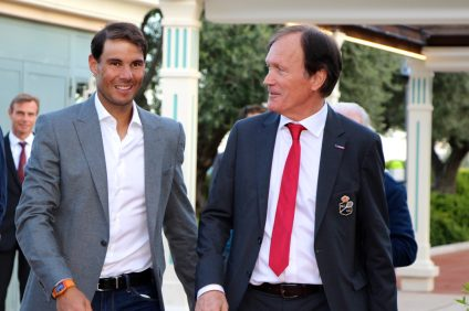 Rafael Nadal and Zeljko Fanulovic, Tournament Director @CelinaLafuentedeLavothaJPG