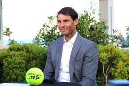 Rafael Nadal at the Main Draw of the Rolex Monte-Carlo Masters 2019 @CelinaLafuentedeLavotha