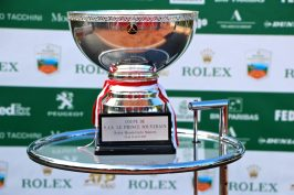 The main trophy of the Rolex Monte-Carlo Masters 2019 @CelinaLafuentedeLavotha