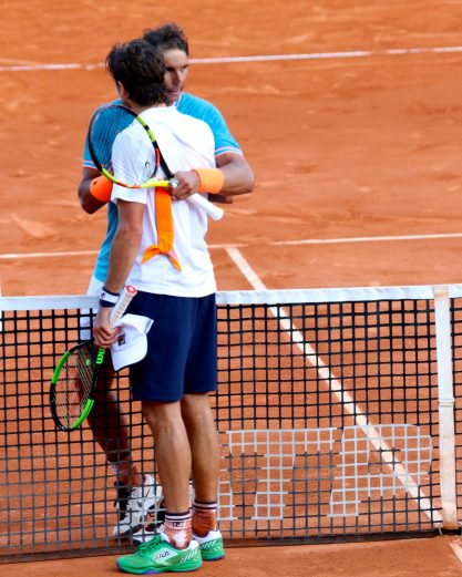Winner Rafael Nadal consoling Guido Pella, April 19, 2019 RMCM @CelinaLafuentedeLavotha