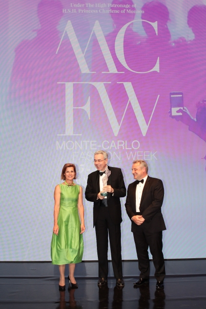 Educational Award presented to Dominique Jacomet on behalf of the Institut Francais de la Mode, MCFW Fashion Awards Ceremony, May 17, Fashion Village @Daniele Guidetti