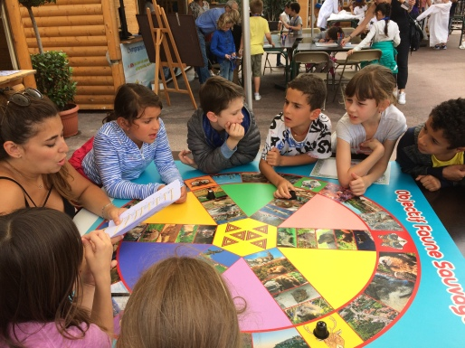 Children playing while learning during Monacology @Monacology