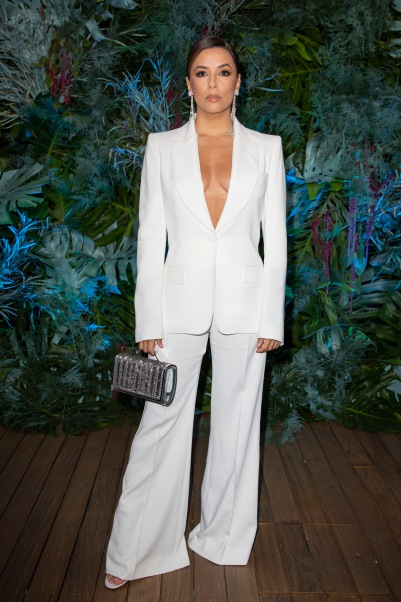 Eva Longoria at the Alberta Ferretti show at the Yacht Club of Monaco, Saturday, May 18, 2019 @Courtesy of Alberta Ferretti