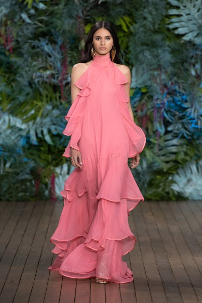 One of the looks at Alberta Ferretti Fashion Show at Yacht Club of Monaco, Saturday, May 18, 2019 (3)@Courtesy Alberta Ferretti