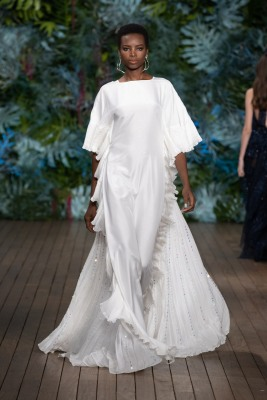 One of the looks at the Alberta Ferretti Fashion Show at Yacht Club of Monaco, Saturday, May 18, 2019 @Courtesy Alberta Ferretti