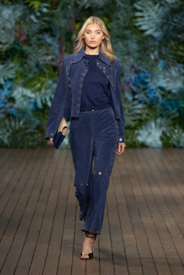 One of the looks at the Alberta Ferretti show at the Yacht Club of Monaco, Saturday, May 18, 2019 @Courtesy of Alberta Ferretti