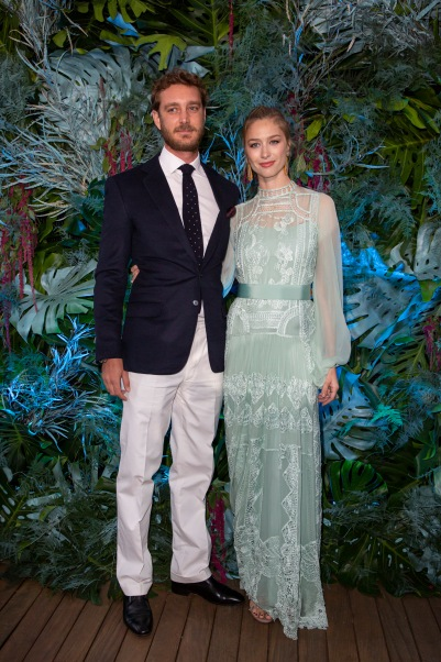 Pierre Casiraghi and Beatrice Borromeo, Alberta Ferretti Fashion Show at Yacht Club of Monaco, Saturday, May 18, 2019@Courtesy Alberta Ferretti