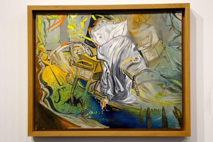 Bed and Two Bedside Tables Ferociously attacked by a Cello, V.1983, Oil on Canvas, Madrid, Museo Nacional Centro de ARte Reina Sofia @CelinaLafuentedeLavotha, Monaco 2019