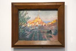 Cadaques seen from the Back V.1921, Oil on Canvas, Figueras, Foundation Gala-Salvador Dali @CelinaLafuentedeLavotha, Monaco 2019