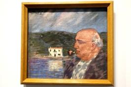 Portrait of My Father and the House at Es Llaner, Dali V. 1920, Oil on Canvas, Figueres, Fundation Gala-Salvador Dali @CelinaLafuentedeLavotha, Monaco 2019