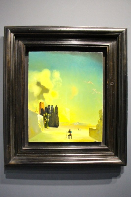 Enigmatic Elements in a Landscape, 1934, Oil on wood panel, Figueres, Foundation Gala-Salvador Dali @CelinaLafuentedeLavotha, Monaco 2019