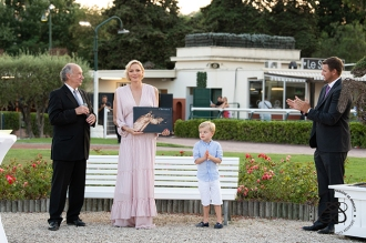François Forcioli-Conti, Princess Charlene, Prince Jacques and Mr. Gareth Wittstock @Eric Mathon:Palais Princier