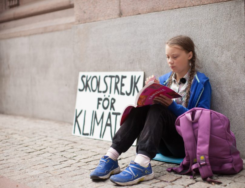Greta Thunberg, schoolgirl climate change warrior @Anders Hellberg