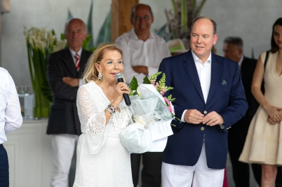 Prince Albert II and Louisette Levy Soussan Azzoaglio, 9th anniversary of CREM 2019 ©EdWrightimages_-7436