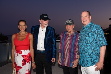 Prince Albert II and Princess Stephanie with Mike Love and Bruce Johnson from The Beach Boys, July 13, 2019 @Gaetan Luci, Palais Princier
