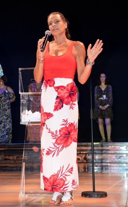 Princess Stephanie brief presentation at the FAM 15th anniversary party @Gaetan Luci, Palais Princier