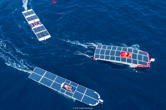 Solar boats at the Monaco Solar & Energy Boat Challenge 2019@CarloBorlenghi_BD