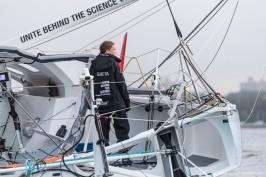 Greta Thunberg onboard Malizia II, August 28, 2019 @Jen Edney