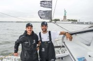 Pierre Casiraghi & Boris Herrmann at Malizia II arrival in New York, August 28, 2019@RiccardoPinto_Team Malizia_BD