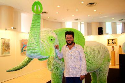 ART PRIZE GREEN GREEN ex-aequo, La balade de l'elephant by Maniez (3) GemlucArt 2019 @CelinaLafuentedeLavotha
