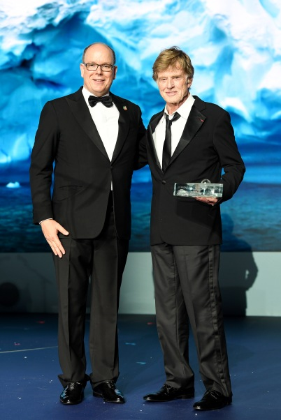 Prince Albert II honoring Robert Redford at Global Ocean Gala, Monaco 2019©Getty Images FPA2