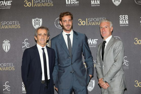 Alain Prost, Pierre Casiraghi and Didier Deschamps, Sportel Monaco 2019 Sportel Monaco 2019 @Sportel All Rights Reserved