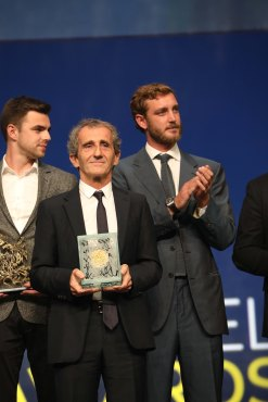 Alain Prost with the Legend Award 2019 @Sportel All Rights Reserved