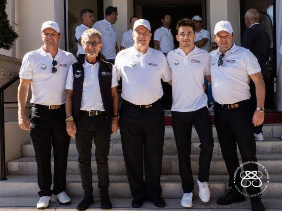 Gareth Wittstock, Eddie Jordan, Prince Albert II, Charles Leclerc , Sean Wittstock @Eric Mathon:Palais Princier