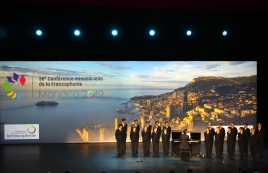 Les Petites Chanteurs de Monaco performing at operning of 36th Conference Ministerielle de la Francophonie, Monaco, October 30, 2019 @CelinaLafuentedeLavotha