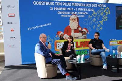 BrickLive Monaco Press Conference, Sylvie Biancheri with Gildo Pastor and David Ciclitira, November 28, 2019 GF @CelinaLafuentedeLavotha