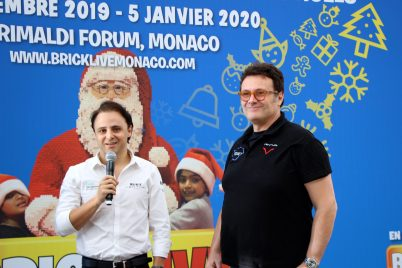 Felipe Massa and Gildo Pastor of Venturi @CelinaLafuentedeLavotha