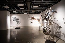 Caroline Bergonzi Metal sculptures and Elizabeth Knowles on-site installation @Rita Saitta