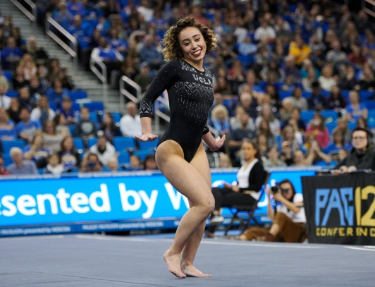 UCLA Athletics - 2019 UCLA Women's Gymnastics versus the University of Nebraska Cornhuskers. Pauley Pavilion, UCLA, Los Angeles, CA. January 4th, 2019 Copyright Don Liebig/ASUCLA 190104_GYM_1949.NEF