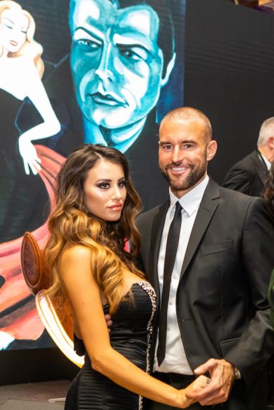 Philipp Plein and girlfriend Lucia Bartoli dancing at Christmas Ball 2019 @M. Stanley, Smash