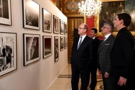 Prince Albert visiting the photo exhibition at the Palace © Bruno Bebert