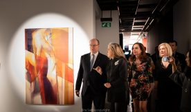 Prince Albert with Caroline Bergonzi, Marie-Aimee Tirole and Dominique Kindermann @ Rita Saitta