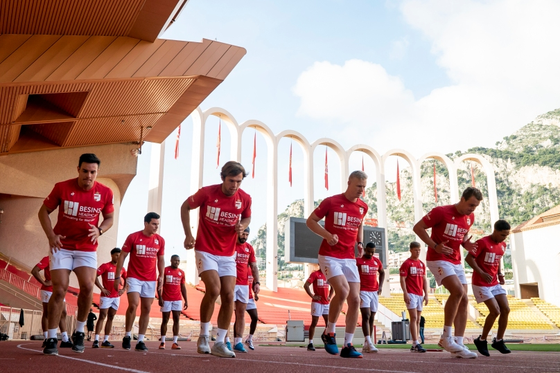 Monaco Rugby 7s team training at Stade Louis II @Floridan Vidot