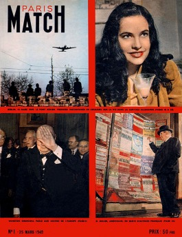 Paris Match No. 1 Cover, March 25, 1949