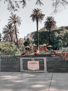 Children's park closed, Buenos Aires, Argentina April 5, 2020@Juli Urmenyi